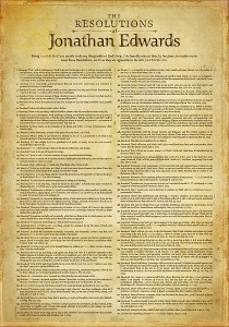 The Resolutions of Jonathan Edwards Poster